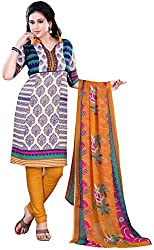 Swaman Women's Multicolor Synthetic Dress Material(0729LAD00018,Multicolor)