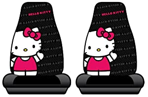 Hello Kitty Sanrio Waving Car Truck SUV Bucket Seat Covers - Pair from Plasticolor