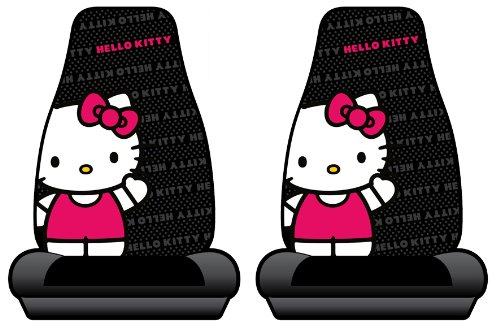 Hello Kitty Sanrio Waving Car Truck SUV Bucket Seat Covers - Pair (Hello Kitty Seats Covers compare prices)