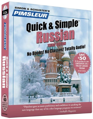 Pimsleur Russian Quick & Simple Course - Level 1 Lessons 1-8 CD: Learn to Speak and Understand Russian with Pimsleur Language Programs (Pimsleur Quick and Simple)
