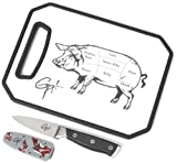 Guy Fieri Gourmet 3-Piece Image Board, Parer and Sheath Set, 8-Inch by 11-Inch