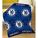 Childrens/Kids Boys Chelsea Football Fleece Blanket/Bed Throw