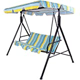New Garden Swing Seat 3 Seater Hammock Outdoor Swinging Bench Chair Extra large (Multi)