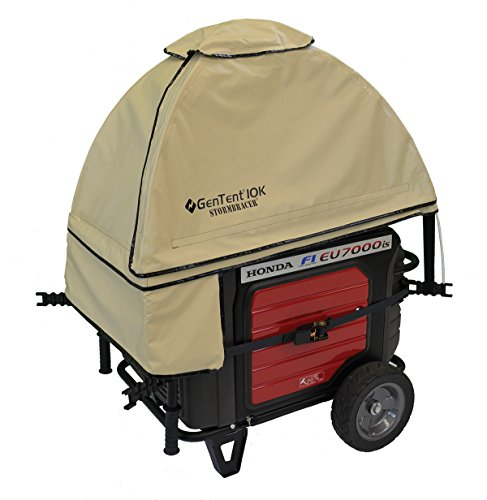 GenTent 10k XKu Stormbracer Edition running cover for 3000W+ Inverters - Assembled in USA - TanLight Color - GT10KXKUTB (Portable Generator Shelter compare prices)