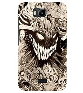 PRINTSHOPPII SCARY GHOST Back Case Cover for Huawei Honor Bee::Huawei Y5C