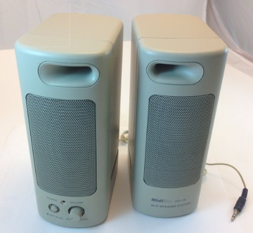 Multi-Media Amplified Speakers For Computer, Portable For Mp3 Player/Cellphone Connection