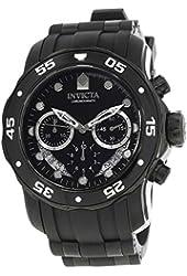 Invicta Men's Pro Diver Black Polyurethane Band Steel Case Quartz Analog Watch 21930