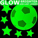 FOOTBALLS Glow-in-the-Dark stickers - MEDIUM