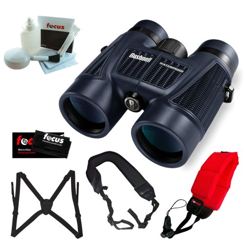 Bushnell H2O 10X 42Mm Roof Prism Binoculars, Clam Pack + Binocular Harness + Accessory Kit