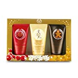 The Body Shop Chritmas Gift Festive Hand Cream Trio: Cranberry Joy 30ml, Vanilla Bliss 30ml, Ginger Sparkle 30ml