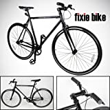 NEW 54cm Black Fixed Gear Bike Single Speed Riser Bar Fixie Road Bike Track Bicycle