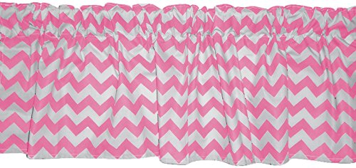 Baby Doll Chevron Dot Window Valance, Pink
