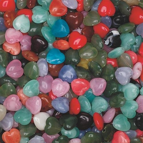 S&S Worldwide Heart Shape Beads 2mm X 1/2