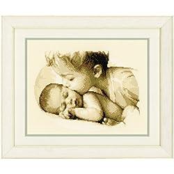 Vervaco PN-0150040 VER - Muestra de punto de cruz diseño de amor de hermanos