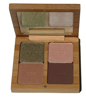 Tarte Amazonian Clay Eyeshadow Palette, Shimmering Olive , Matte Softest Peach, Shimmering Gold, Matte Espresso