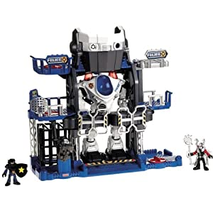 Amazon.com: Fisher-Price Imaginext Robot Police Headquarters: Toys