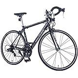 GTM Shimano 700C 14 Speed Road Bike Racing Bicycle 54cm Aluminum Frame Steel Fork