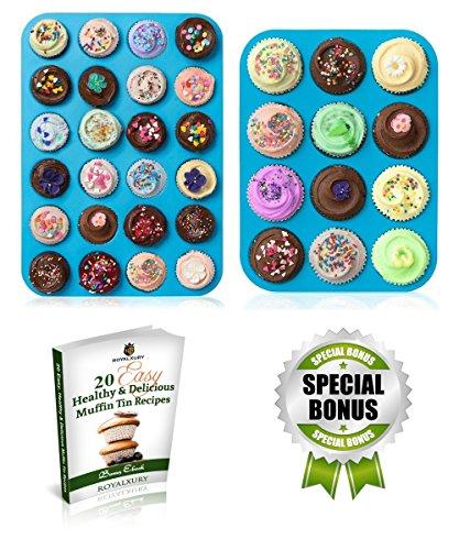 Muffin Pans - Cupcake Pan - Muffin Tin - Cupcake Tin - Silicone Mold Baking Pans - Large Muffin Top Pan 12 cups - Mini Muffin Pan 24 cup - Non Stick Bakeware Molds - Mini Cheesecake Pans (Mini Cupcake Pan 12 compare prices)