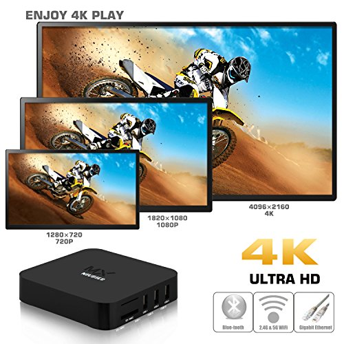 NIUBIER-Android-4K-Kodi-Preloaded-Wifi-Smart-Box-TV-Fully-Loaded-Streaming-Box-Streaming-Media-Player-TV-Show-Box-Sets-Black-Quad-Core-1G-8G
