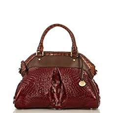 Louise Rose Satchel<br>Carmine Red Tri-Texture