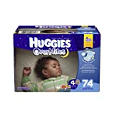 Huggies Overnites Diapers, Size 4, 74 Count