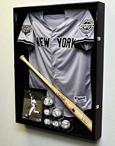Extra Deep Jacket, Uniform, Jersey Shadow Box Display Case Cabinet w  UV Protection by sfDisplay
