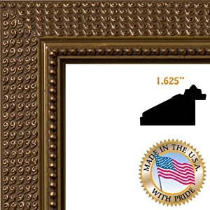 """ArtToFrames 12x14 Picture Frame 1.625"""" Dark Gold"""