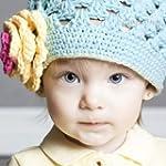 Baby Flower Crochet Beanie Handmade H...