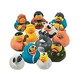 One Dozen 12 Rubber Duckie Ducky Duck Christmas Nativity Scene by Fun Express