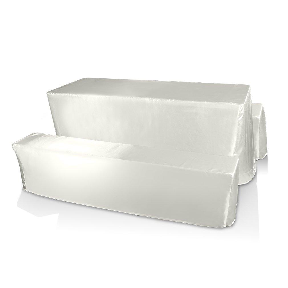 3 in 1 Farbe Größe wählbar eckig Tischdecken Abwaschbare Polyester Wachstischdecke damast Gartentischdecke Eckig +2 Longe Stuhlhusse ideal für Garten, Terrasse und Balkon (Farben B)