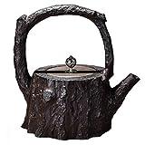 (エウィリ)EVERY 竹 カボチャ型 鉄瓶 南部鉄器 鋳鉄 鉄 急須 おしゃれ 南部鉄瓶 やかん 直火 ティーポット 約1.1L ティー用品 日本茶 茶道道具 お茶 茶道用品