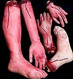 必ずひきます 超リアルな 切られた 手 足 切断 された 手足 5個 セット触感も気持ち悪い 恐怖 !心臓の弱い方にはおすすめできません