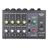 Andoer ミキサー サウンドミキサー 8チャンネル オーディオミキサー 110-240V 楽器・音響機器 MIX-428 ランキングお取り寄せ