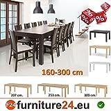 Tisch-Kchentisch-Esszimmertisch-Esstisch-WENUS-ausziehbar-300-cm-Wenge