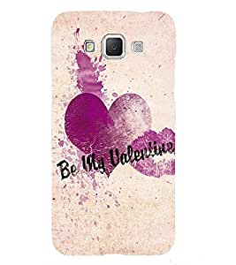 Fuson Premium Back Case Cover Be my Valentine With orange Background Degined For Samsung Galaxy Grand 3 G720::Samsung Galaxy Grand Max G720