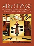 All for Strings : Cello/Book Three (80 CO) by Gerald E. Anderson, Robert S. Frost (1990) Paperback