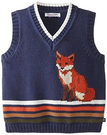 Kitestrings Little Boys' Cotton V-Neck Sweater Vest, Dark Indigo, 2T