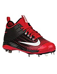 pictures of Nike Mens Trout 2 Pro Black/University Red/White 10 D - Medium