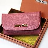 (ミュウミュウ)MIUMIU ミュウミュウ MIUMIU キーケース 6連 型押しレザー ローザ 5M0222 MADRAS ROSA/034 F0028 [並行輸入品]