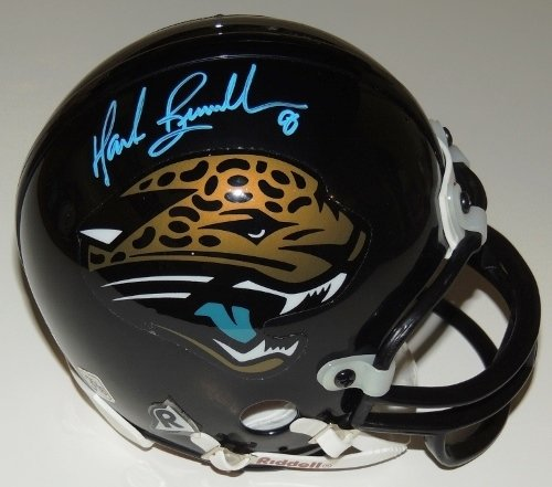 Mark Brunell Autographed / Hand Signed Jacksonville Jaguars Mini Helmet - Teal Autograph got7 got 7 mark autographed signed photo flight log arrival 6 inches new korean freeshipping 03 2017