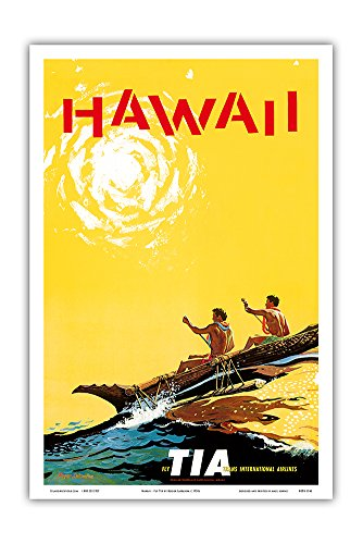 hawaii-fly-tia-trans-international-airlines-hawaiian-outrigger-canoe-waa-vintage-airline-travel-post
