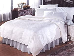 """King Oversized and Overstuffed Concorde White Goose Down Comforter (108"""" X 96"""")"""