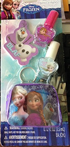 Disney Frozen 4pc Nail Polish Set Olaf File Keychain Pouch Purse Elsa & Anna (Nail Polish Handbag compare prices)