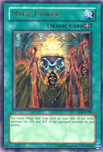 Buy Yu-Gi-Oh Labyrinth of Nightmare Foil Card – Mage Power Ultra Rare – LON-050