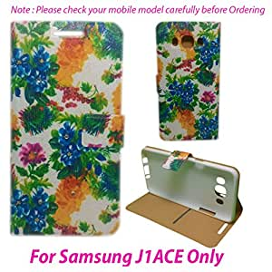 For Samsung Galaxy J1 ACE Flip Cover Case : DEKKIN Designer Fancy Premium Flip Cover Case For Samsung Galaxy J1 ACE - DESIGN28