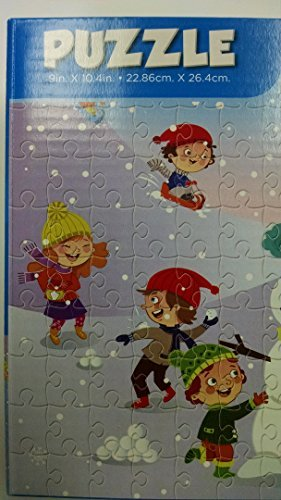 100 Piece Cartoon Snowman w/ Stocking Cap Jigsaw Puzzle