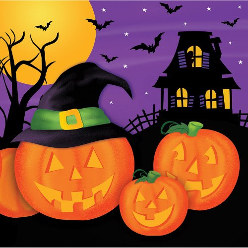Pumpkin Haunts Luncheon Napkins N/A (18 per package)
