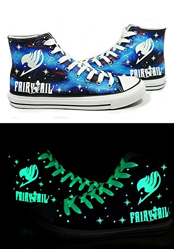 Max-shop Fairy Tail Anime Logo Cosplay Shoes Canvas Shoes All Star Luminous