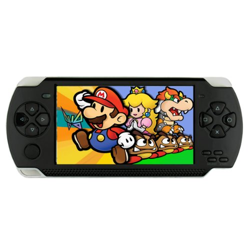 EFUN GX100 4.3'' Portable Game Console MP3/MP4/MP5 Media Player PSP Style (3000 Games inside) -TF card/TV-Out/Camera 4GB
