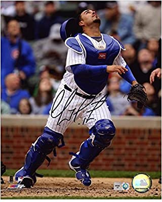 """Geovany Soto Chicago Cubs Autographed 8"""" x 10"""" Looking Up Photograph - Fanatics Authentic Certified - Autographed MLB Photos"""